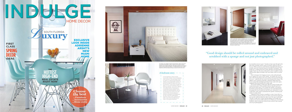 Indulge Home Decor Magazine Cover Feature