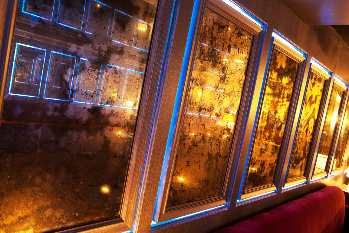 Callin Fortis Night Club Design B Bar at the Betsy Hotel - Mirror Wall